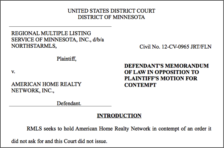 Caption from court case