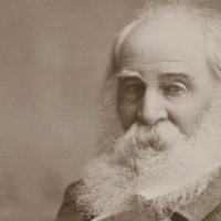 Photo of poet Walt Whitman in older age